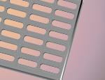 Tabla perforata cu perforatii ovale alungite otel inox
