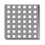 Tabla perforata cu perforatii patrate