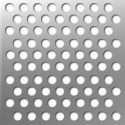 Tabla perforata INOX cu perforatii rotunde